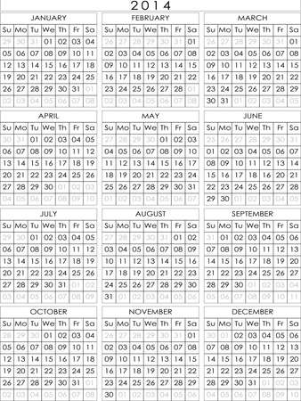 2014 calendar simple construction big eps file Vector