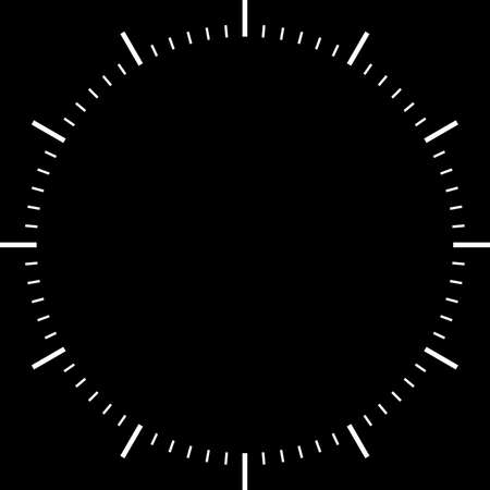 abstract alarm clock: clock dial white signs