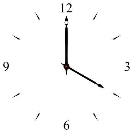 oclock: clock dial black 12 3 6 and 9 signs at four oclock
