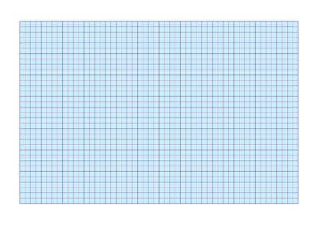 A4 ruitjespapier standaard voor afdrukken met cm en 5 mm afscheiders Stock Illustratie
