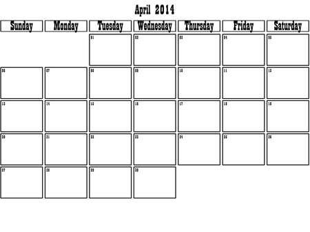 April 2014 planner grote ruimte