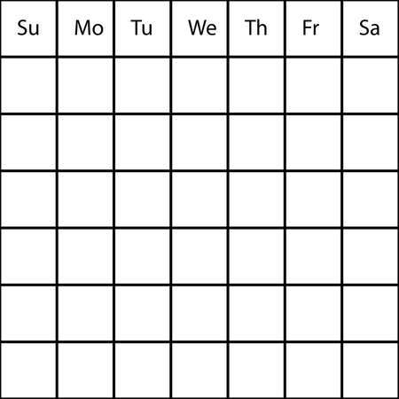 HUGE week month generic PLANNER Vector