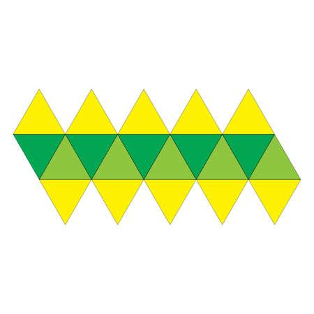 icosahedron: icosahedron unfolded