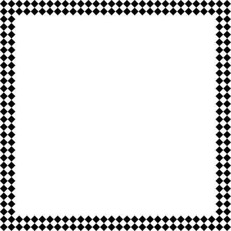 victorian fence: Black diamonds double raw frame background element