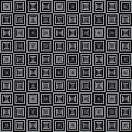 Alternating black and gray squares tile structure background Vector
