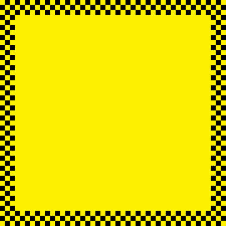 Black squares taxi like frame on yellow background Vector
