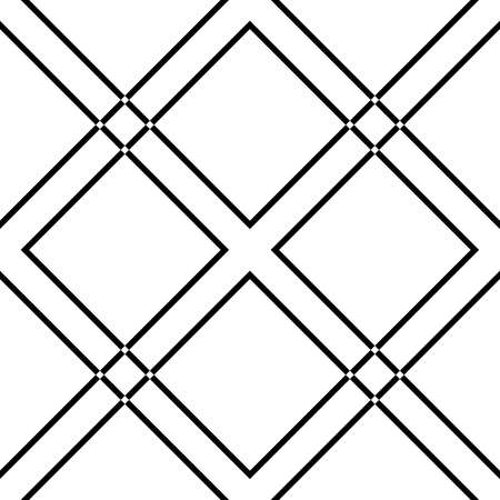 diamond square cross non intersected lines on transparency background element x4 Vector