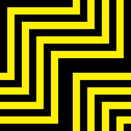 tridimensional: Abstract descending blabk yellow tridimensional perspective