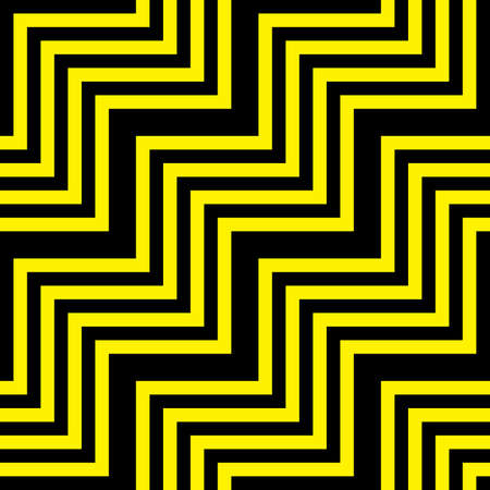 tridimensional: Abstract descending blabk yellow tridimensional semless background with perspective