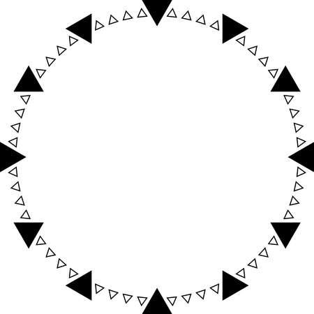 Klok driehoek wijzerplaat punten op transparantie achtergrond element Stock Illustratie