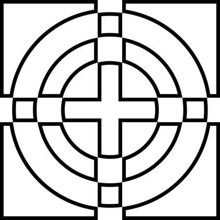 Impossible labirinth on transparency background element Illustration