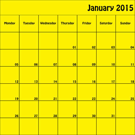 January 2015 Planner Square Customizable Vector
