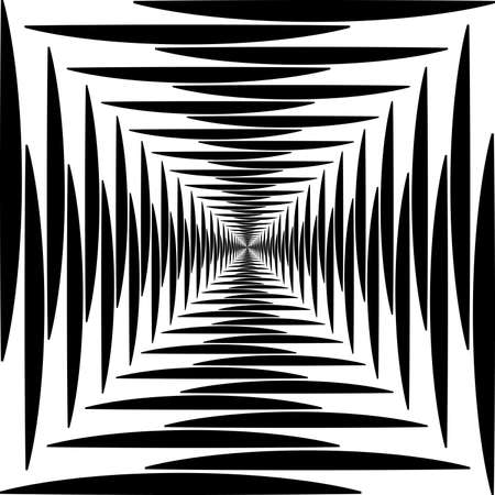 alternating: Abstract descending alternating squares loussing perspective on transparency background