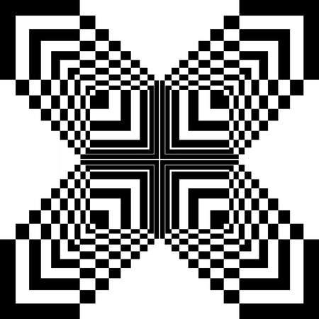 expanding: Cuadrados abstractos en expansi�n en arabesco mariposa en el fondo transparencia