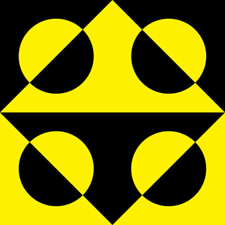 tridimensional: Abstract black and yellow pseudo tridimensional background element