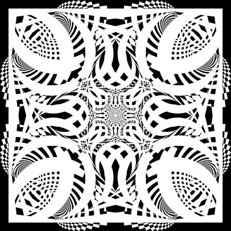 symetry: Abstract shape arabesque perfect symetry on transparency background