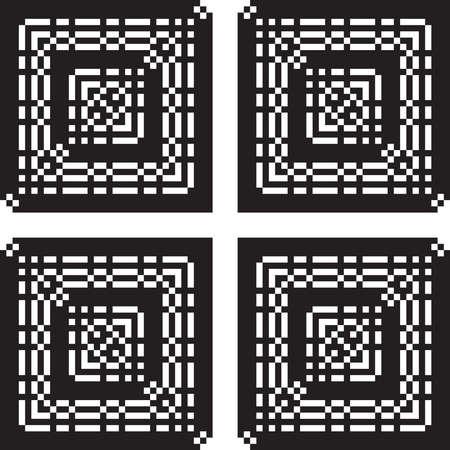 pot hole: arabesque abstract pattern