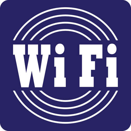 wifi sign: WiFi Sign white on blue