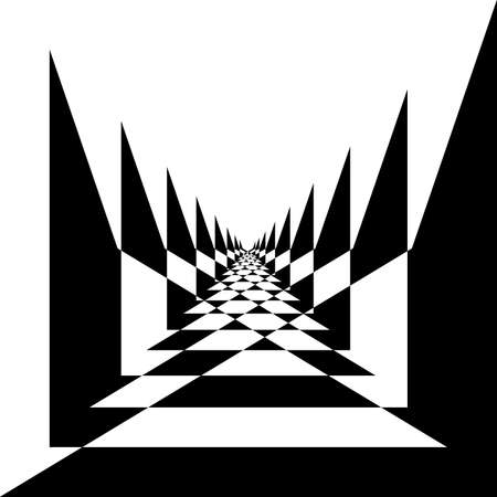 angled: Abstract black on transparent angled road perspective Illustration
