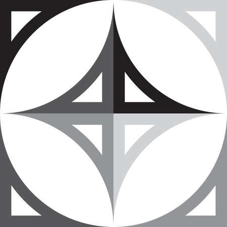 Cardinal Points Indicateur noir au gris éléments