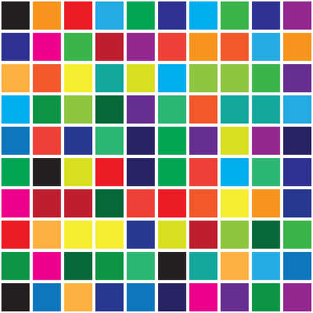 color swatches: Color swatches square color targets abstract background
