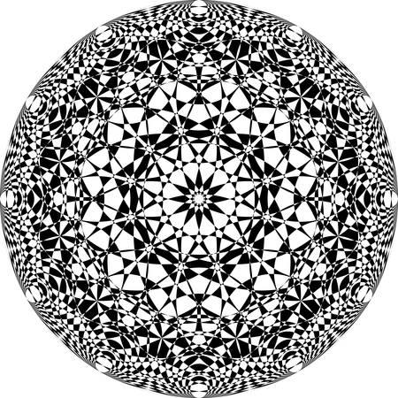 fondo transparente: Globe arabesque black on transparent background