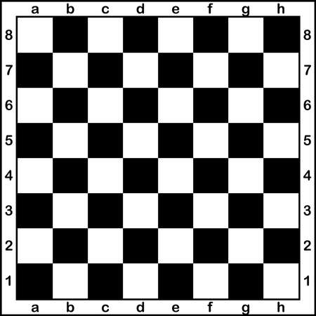chess board: Chess board with letters and numbers black on transparent background