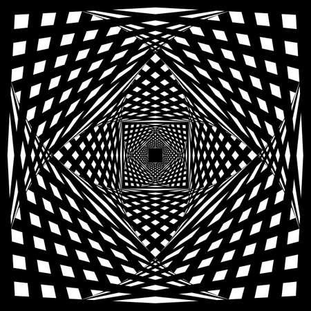descending: Spherical fence design on descending perspective black on transparent