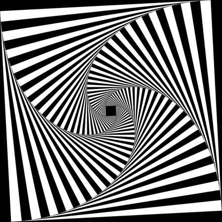 Spiral of black stairs on descending perspective black on transparent Illustration