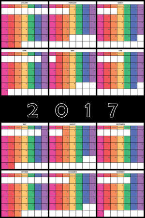 day planner: 2017 Planner Calendar big editable space color day