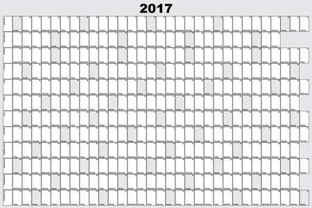 2017 Planner Calendario grande nero modificabile e nero