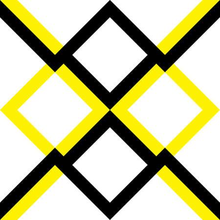 yellow black: proyecto del muro arabesq negro amarillo Vectores