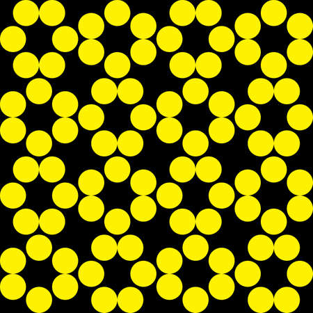 Abstract Fence project yellow dots on black background