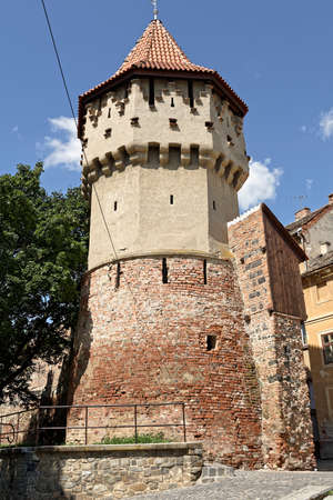 Old Town Sibiu Romania Fortress Tower Stock Photo