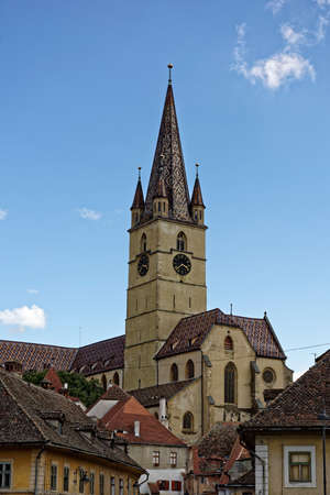 evangelical: Evangelical Cathedral Sibiu Romania medieval architecture view from Cibin