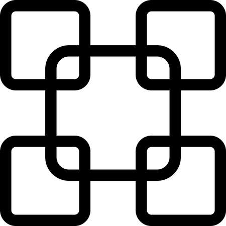 alternate: Abstract Fence element rounded square alternate black on transparent background