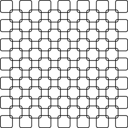 alternate: Abstract Fence project rounded square alternate black on transparent background