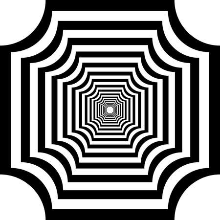 victorian fence: Perspective hypnotic square like design abstract black on transparent background