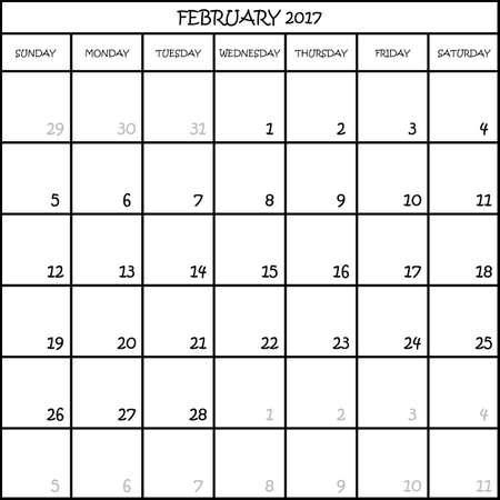 Kalender Planer Monat Februar