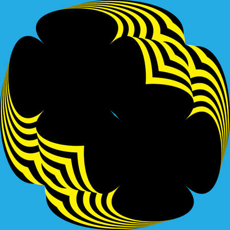 Abstract Parachute yellow black from down