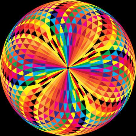 arabesque button on black background Illustration