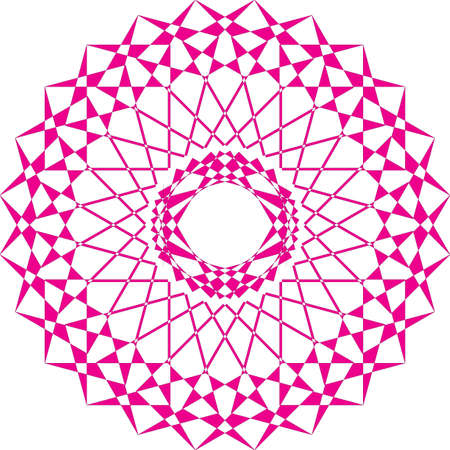 Arabesque carrousell magenta on transparent background repetitive mouvement sugestion Illustration