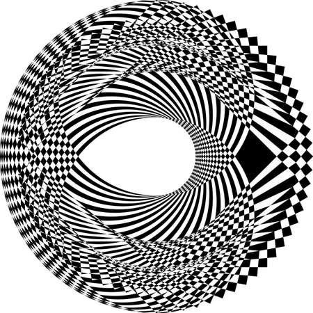 plate like black diamond on transparent background arabesque design 免版税图像 - 124691310