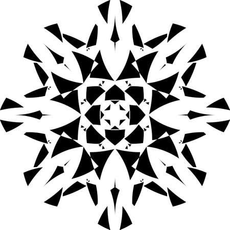 Arabesque pseudo tridimensional shield star on transparent background arabesque graphic design