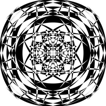 Arabesque pseudo sphere arrow made illusion on transparent background arabesque graphic design