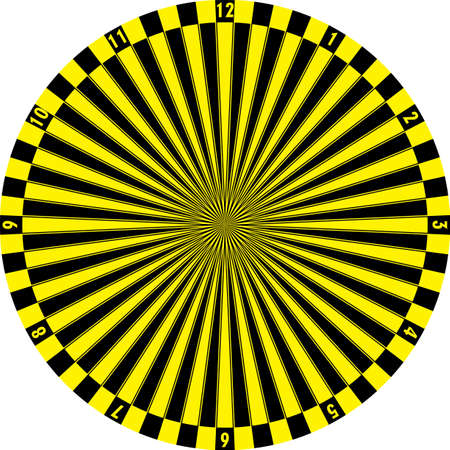 clock dial black yellow signs target perspective yellow numbers on transparent background graphic design
