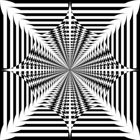 Abstract propeller umbrella like tridimensional impression  black on transparent background designer graphic Illustration