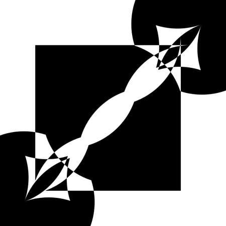black on transparent background abstract arabesque bug duel designer graphic Standard-Bild - 122655615
