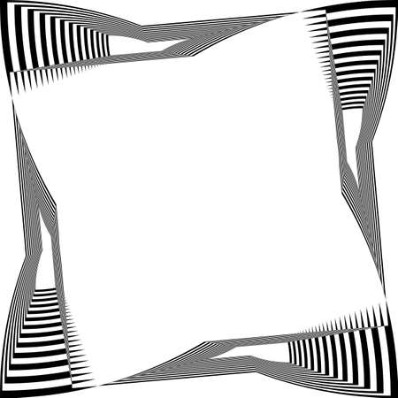 black on transparent background abstract arabesque distorted piano keyboard frame illusion designer graphic