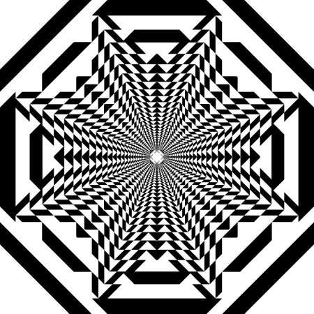 Octogon ruuf top impression  inspired strukture abstract cut art deco illustration on transparent background Stock Illustratie